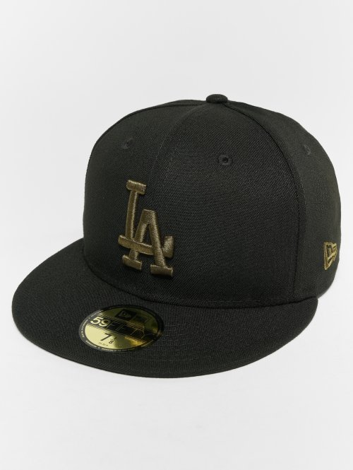 New Era Fitted Cap MLB Essential Los Angeles Dodgers 59 Fifty schwarz