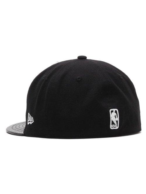 New Era Fitted Cap Team Pu Canvas Brooklyn Nets schwarz