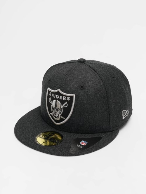 New Era Fitted Cap NFL Heather Oakland Raiders 59 Fifty zwart