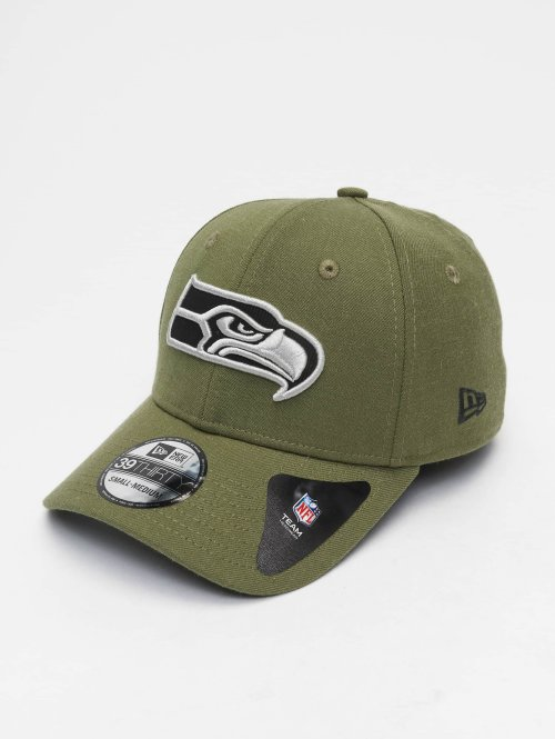New Era Flexfitted Cap NFL Heather Essential Seattle Seahawks 39 Thirty groen