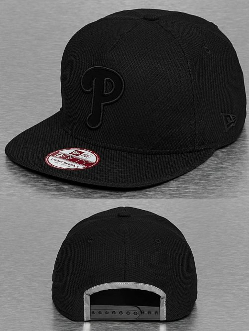 New Era Snapback Cap Diamond Fill Philadelphia Phillie schwarz