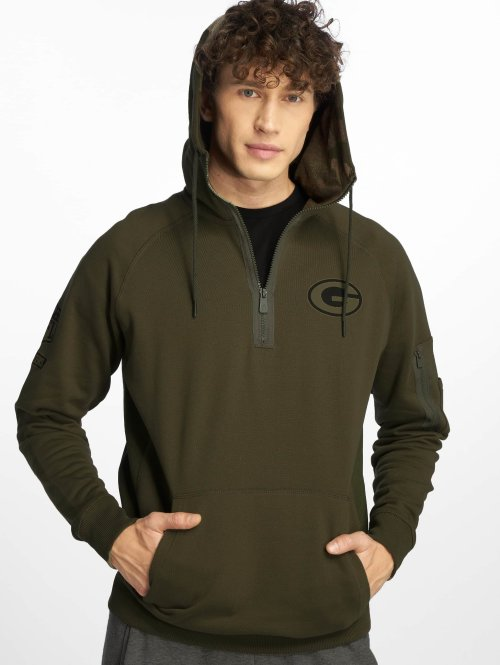 New Era Sweat capuche Nfl Camo Collection Green Bay Packers olive