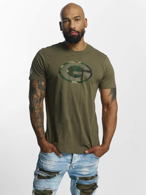 New Era T-paidat NFL Camo Green Bay Packers oliivi
