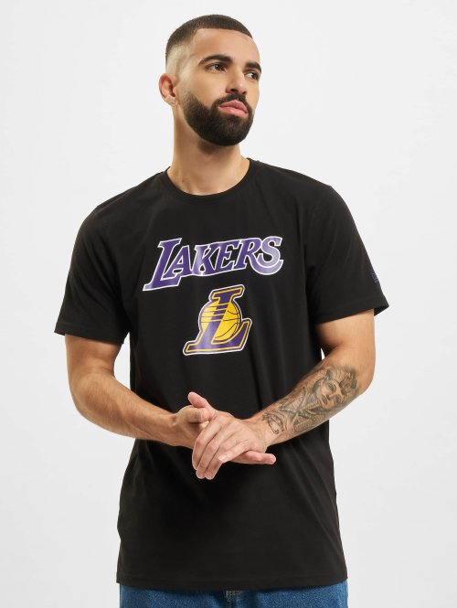 New Era T-Shirt Team Logo LA Lakers schwarz