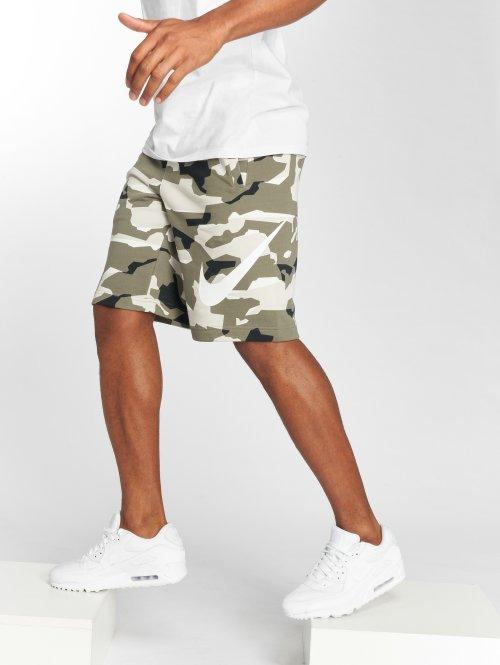 Nike Шорты Sportswear FT Club Camo QS бежевый