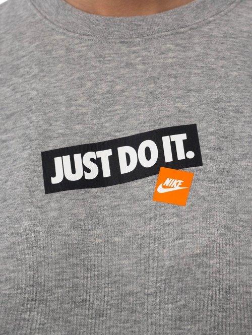 Nike Pullover Nsw Crew Ft Jdi grau