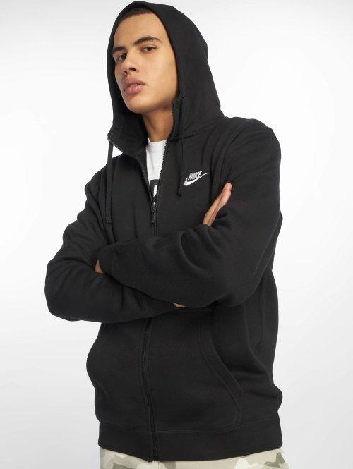 Nike Vetoketjuhupparit Sportswear musta