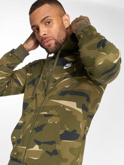 Nike Zip Hoodie Sportswear Club Camo камуфляж
