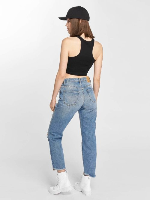 Noisy May Straight Fit Jeans Liv blau
