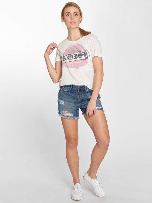 Noisy May T-Shirt nmFredy weiß
