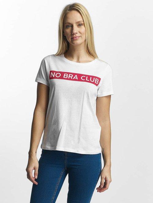 Noisy May T-shirts Nate hvid