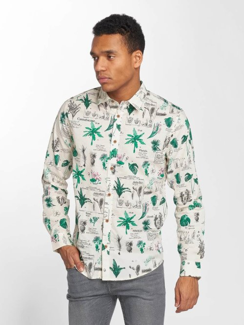 Only & Sons Hemd onsCoff Printed Botanic weiß