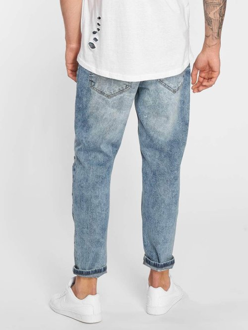 Only & Sons Loose Fit Jeans ons Beam Cropped Blue Damage blau