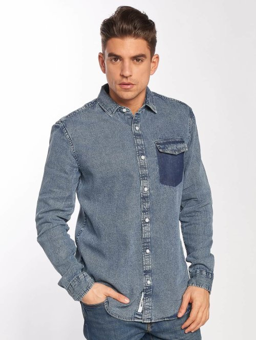 Only & Sons overhemd onsNeville blauw