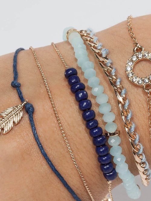 Only armband onlBetty 5 Pack blauw