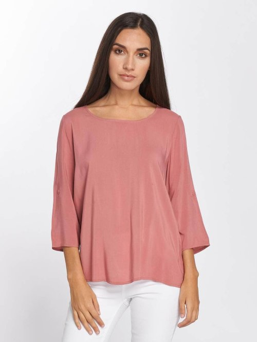 Only Bluse onlFirst 3/4 Fold Up rosa