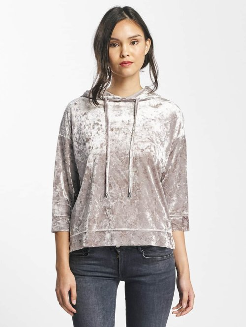 Only Sweat capuche onlVelvet 7/8 gris