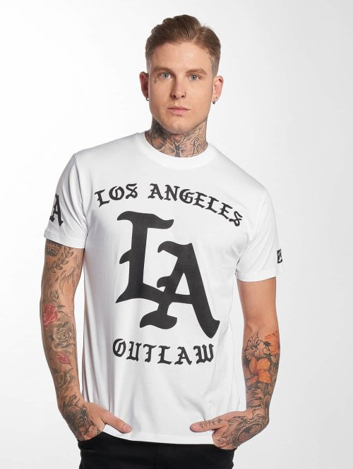 Outlaw t-shirt Outlaw LA wit
