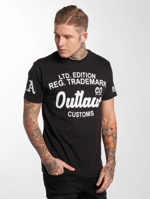 Outlaw t-shirt Outlaw Customs zwart