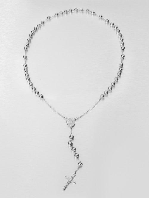 Paris Jewelry Kette Rosary Cross silberfarben