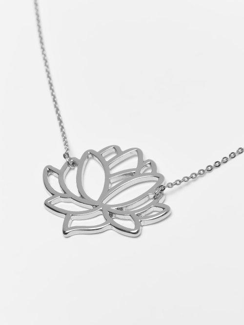 Pieces Collier pcFia Lotus argent
