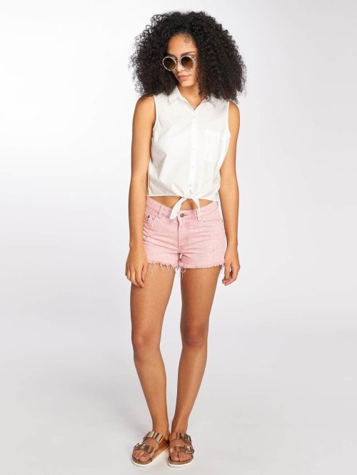 Pieces Shorts pcStraight rosa