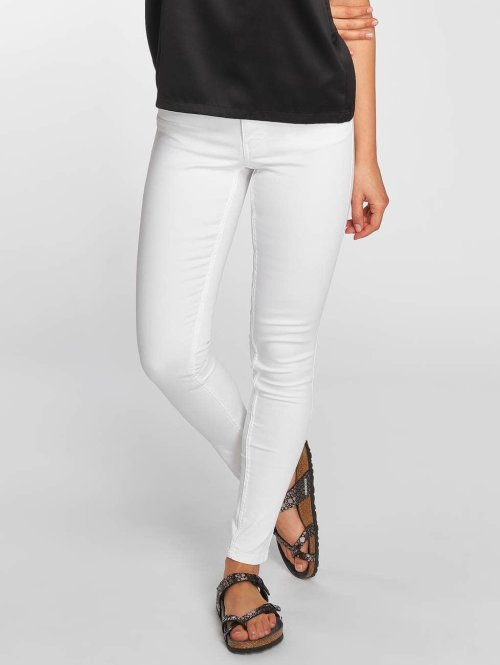 Pieces Skinny jeans pcPushUp Iotto Ankle wit