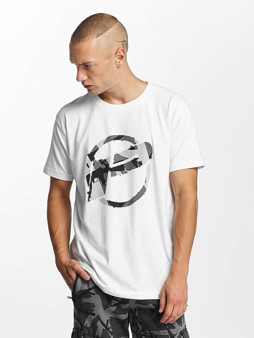 Pusher Apparel T-Shirt Destroyed blanc