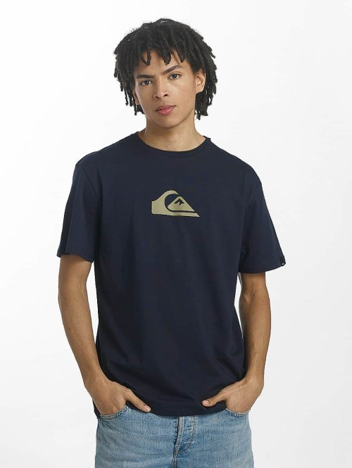 Quiksilver T-Shirt Classic Comp Logo blau