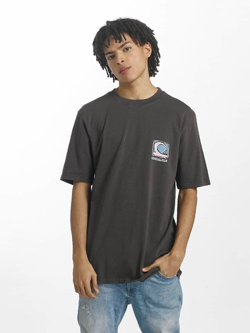 Quiksilver T-Shirt Durable Dens Way grau