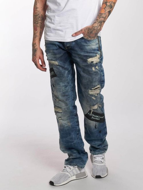 Red Bridge Straight Fit Jeans Look Out blau