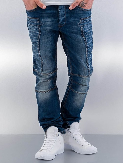 Red Bridge Straight Fit Jeans Quited II blau