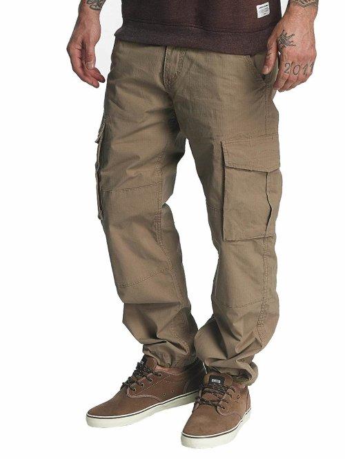Reell Jeans Spodnie Chino/Cargo Flex brazowy