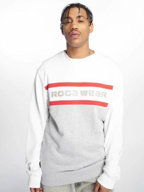 Rocawear Jumper  Stripes Crewneck Grey Me...