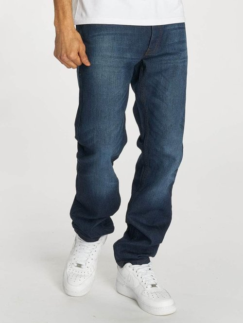 Rocawear Straight Fit Jeans Moletro blå