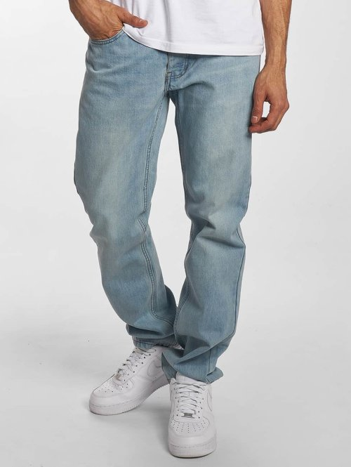 Rocawear Straight Fit Jeans Moletro Leather Patch blau