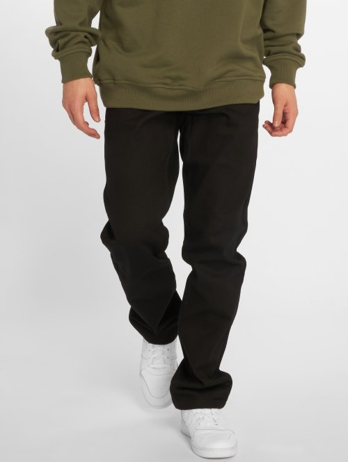 Rocawear Straight fit jeans Moletro Leather Patch zwart