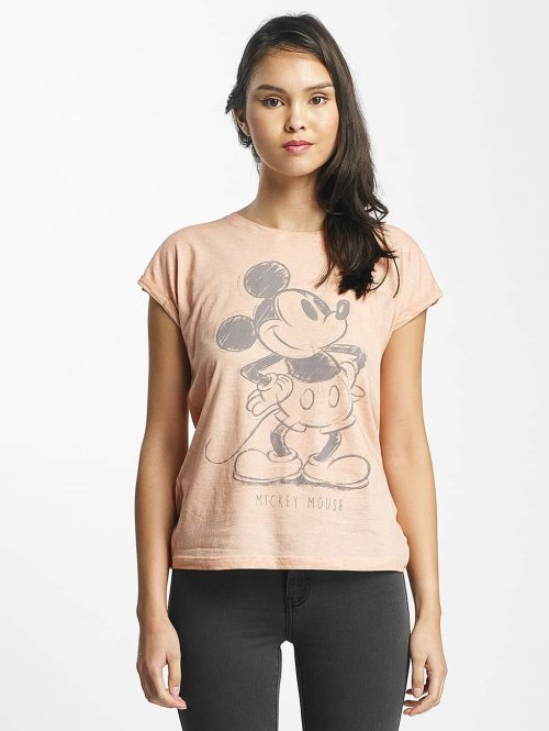 Rock Angel T-Shirt Mickey Mouse rosa