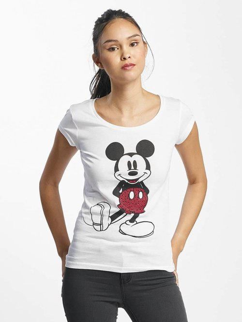 Rock Angel T-Shirt Mickey Mouse weiß
