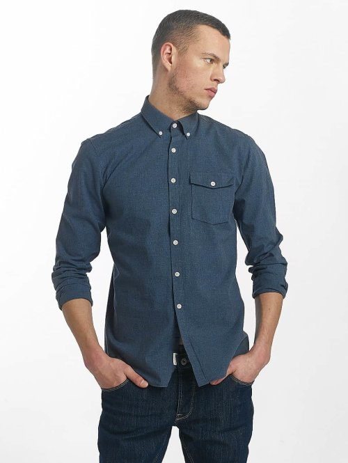 SHINE Original Hemd Cotton Mélange Otto Line blau
