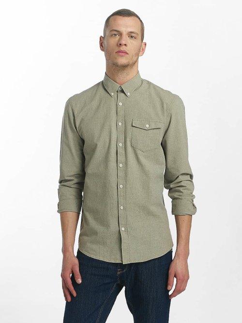 SHINE Original Hemd Cotton Mélange Otto Line grün
