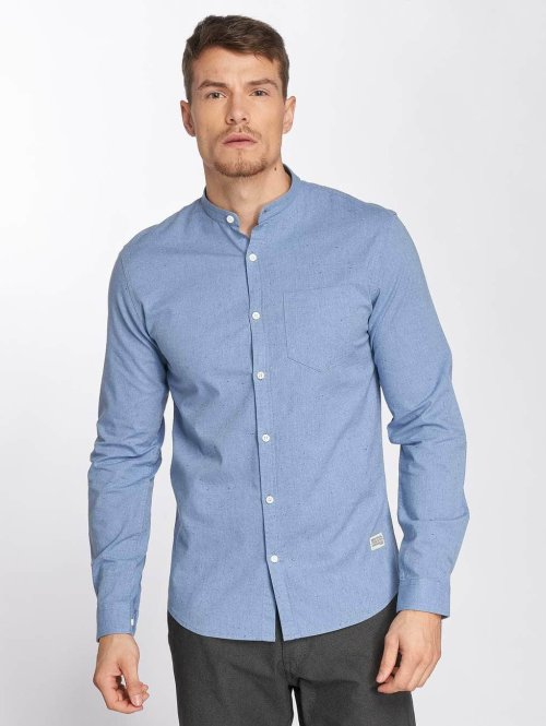 SHINE Original Shirt  Napoleon Shirt Blue...