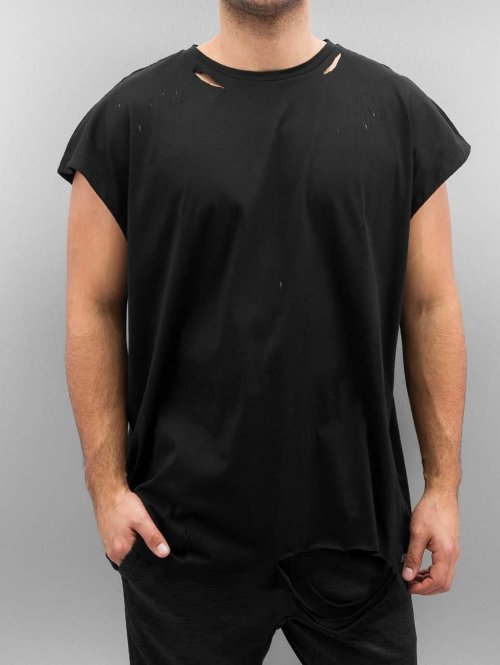 Sixth June T-Shirt Destroyed Muscle schwarz
