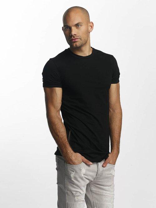 Sixth June t-shirt Skinny Round Bottom zwart