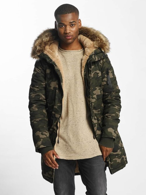 Sixth June Winterjacke Fur camouflage