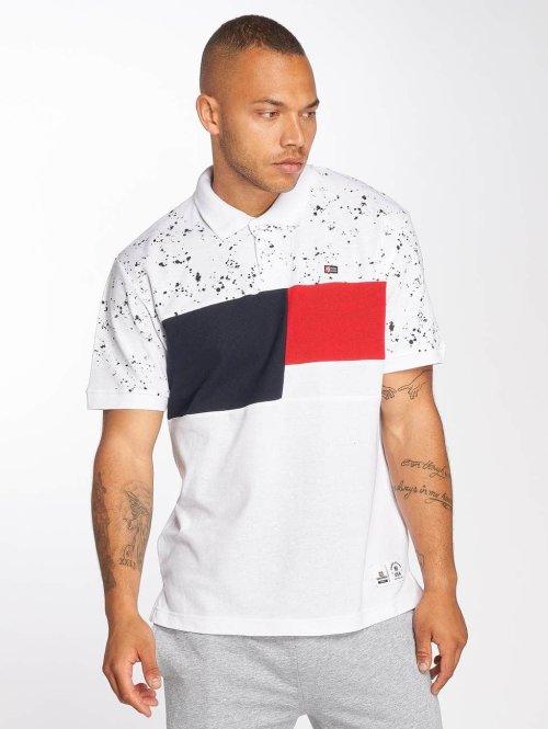 Southpole Poloshirt Cut & Seen weiß