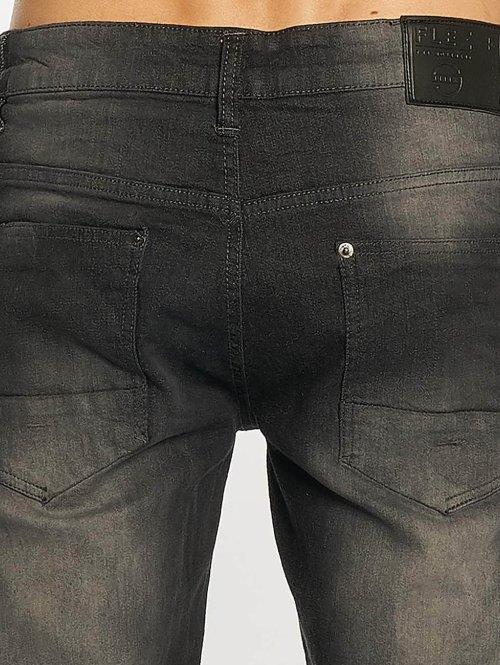 Southpole Skinny Jeans Ripped Stretch Denim schwarz
