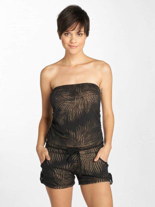 Stitch & Soul Jumpsuit Palm Tree schwarz