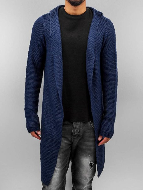 Stitch & Soul Strickjacke Long blau