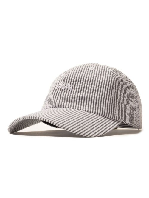 Stüssy Fitted Cap Seersucker Low Pro grau